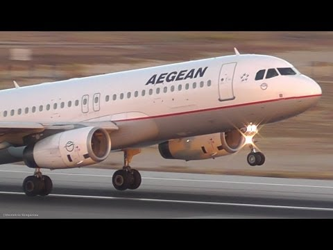Aegean A320-232 Smooth Evening Takeoff from Larnaca-Peaceful Plane Spotting!