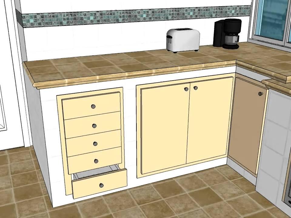 Cocina mamposteria lisa lacada carpinteria santa clara - Losas de cocina ...
