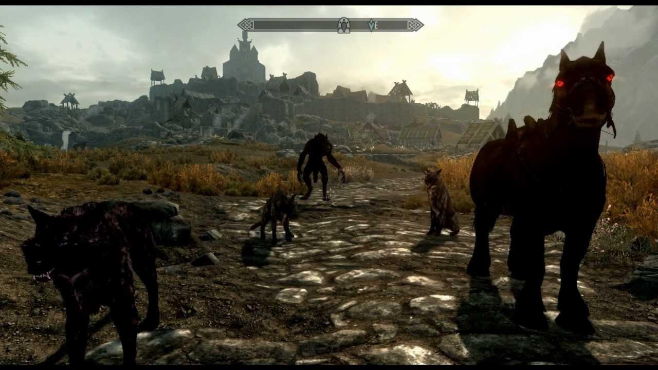 Skyrim Mods Fun With A Wolf Pack Omega Werewolf Fenrir