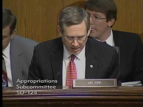 Senator Kirk questions Veterans Administration Secretary Eric Shinseki