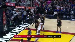 Josh Richardson with the drive and lefty dunk over Avery Bradley!