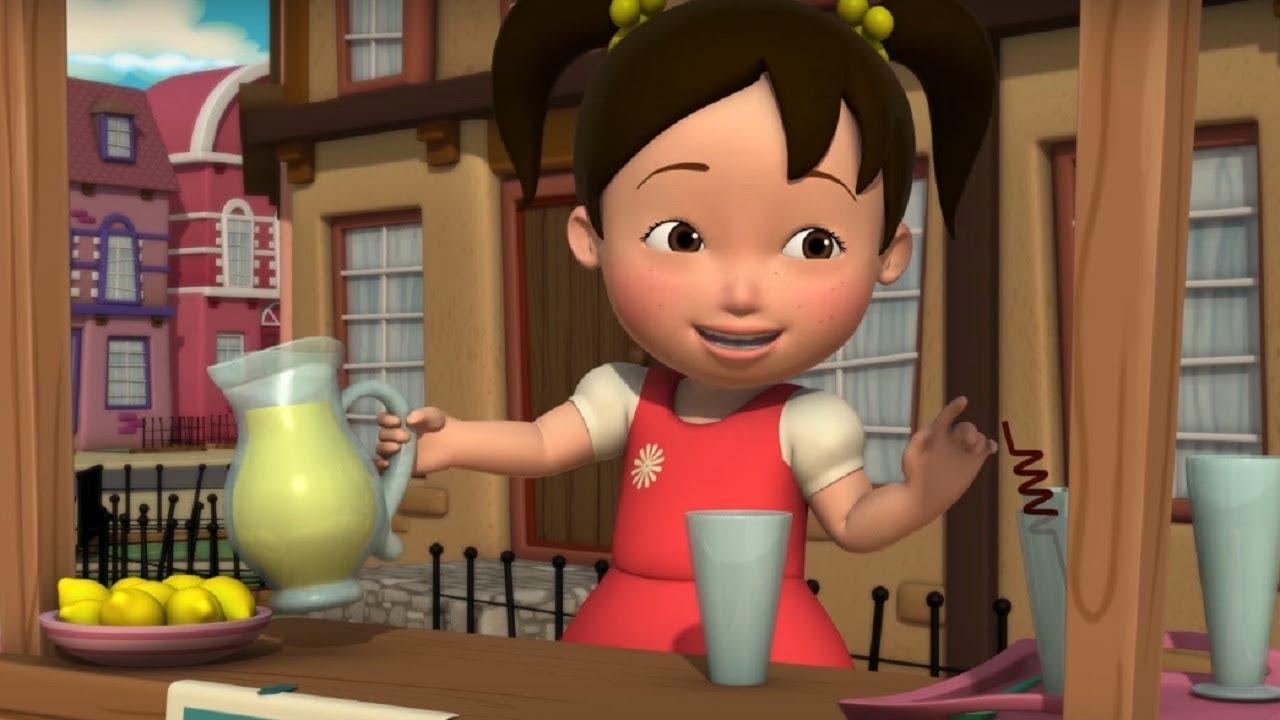Английский язык для малышей - Мяу-Мяу - Лимонад (Lemonade) - учим английские слова