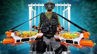 NERF Juggernaut Prison Escape Challenge!