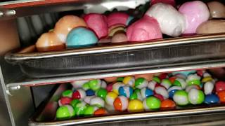 Freeze drying salt water taffy and skittles