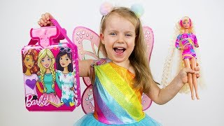 Gaby Pretend Play with Barbie Toys