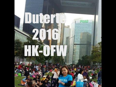 Hongkong OFW - Duterte, Supporters Gathering