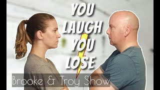 YOU LAUGH YOU LOSE! Who will win? Funny jokes, dad jokes, and silly puns, laughing challenge!