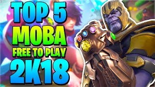 🎆  TOP 5 MEJORES MOBA FREE TO PLAY DE 2018 | Pocos, Medios, Altos Requisitos 🎮 byLion Tops