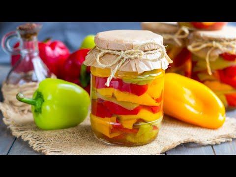 Перец маринованный в масле — видео рецепт