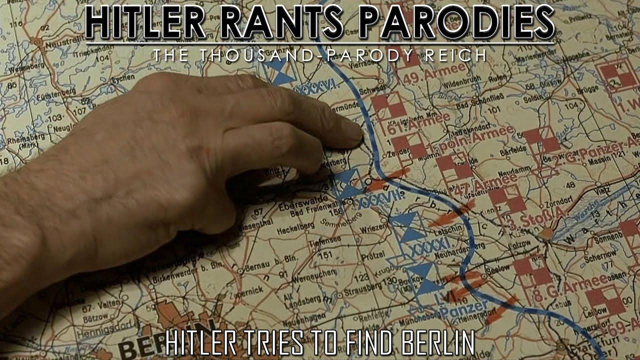 Hitler tries to find Berlin