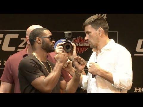 UFC 214: Woodley vs Maia, Cyborg vs Evinger - Press Conference Faceoffs