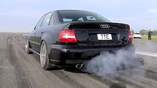 1100HP Audi S4 B5 Bi-Turbo - LOUD START & ACCELERATIONS!
