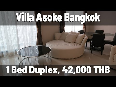 Villa Asoke Bangkok one bedroom duplex apartment 50.000 baht