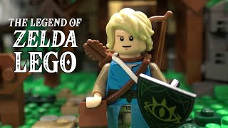 The Legend of Zelda: Breath of the Wild House and Scenes in LEGO