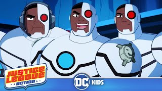 Justice League Action | Top 5 Cyborg Moments | DC Kids
