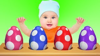 Learn Colors With Surprise Egg Baby Animals Videos For Kids