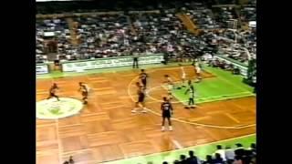 Clyde Drexler - 41 points vs Boston Full Highlights (1992.03.15)