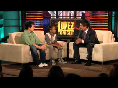 Jaden Smith and Jackie Chan   Lopez Tonight 6162010