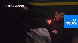 Watch: Kim Jong Un pauses for cigarette break during marathon train trip