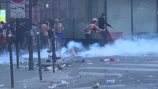 Celebrations turn violent in Paris after France's World Cup win