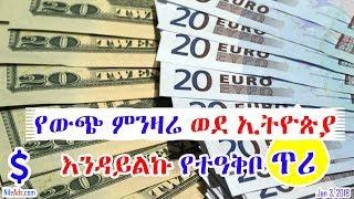የውጭ ምንዛሬ ወደ ኢትዮጵያ እንዳይልኩ የተዓቅቦ ጥሪ Remittances from abroad to Ethiopia - VOA