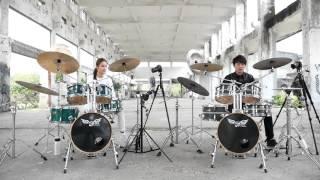 Drum duet 雙鼓合奏 by阿威&曼青