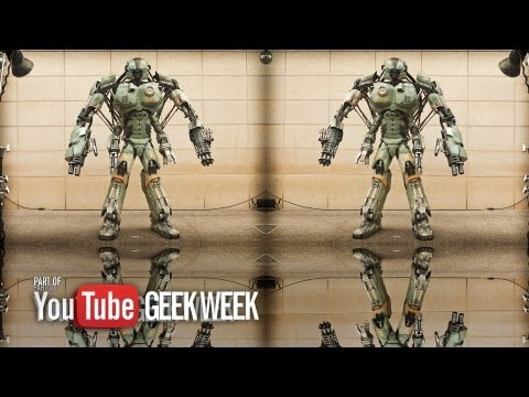 Giant Robot Mech Prototype - YouTube Geek Week - Stan Winston School