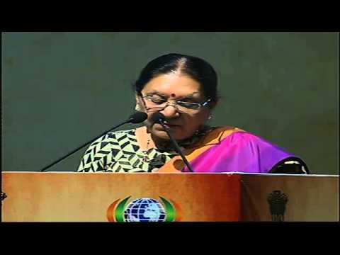 Gujarat CM shares her views in plenary session of Pravasi Bharatiya Divas