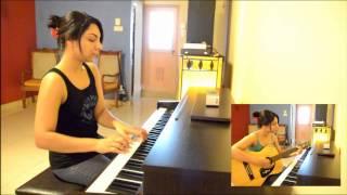 Priya Sooriyasena - Aetha ran wiman (piano + guitar) cover