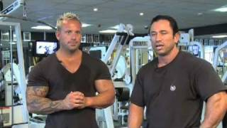 Celebrity Trainer Dean Ash and Mr Universe Neale Cranwell in Back Training Part 1