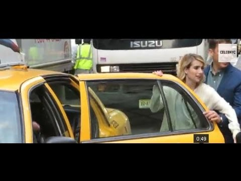 Emma Roberts getting inside a cab after appearing at The Today Show in New York