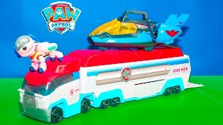 Paw Patrol Mission Air Patroller with a funny Robo Dog Toy Hunt