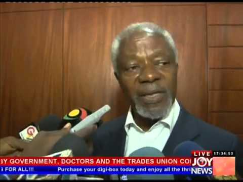 Kofi Annan on Doctors strike (23-4-13)