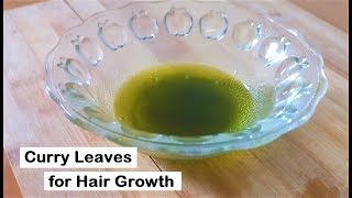 Grow Long hair fast in 20 days with Curry Leaves - No hair loss and fast hair growth