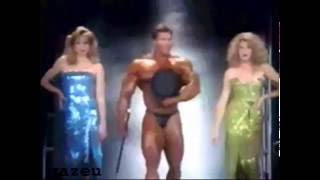 Funny Vince McMahon looking at a bodybuilder