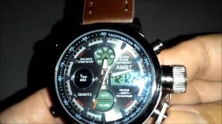 AMST 3003 Dual Display Military Quartz Digital Watch from Gearbest.com