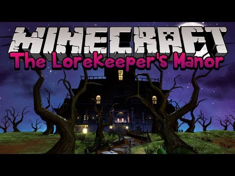 Minecraft Mapas: The Lorekeeper's Manor (Casa Mal-Assombrada!)
