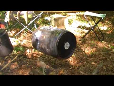 Homemade Camping Oven - Cider Cooked Pork Bushcraft Style