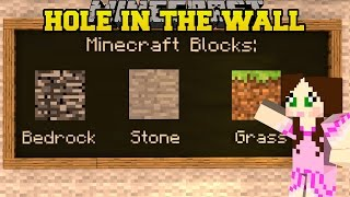 MINECRAFT: SUPER HOLE IN THE WALL (JUMP IN THE HOLE!) Mini-Game