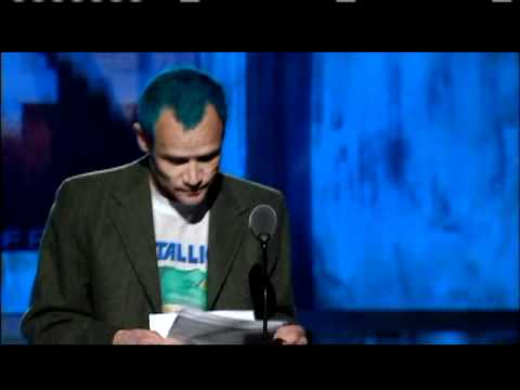 Flea inducts Metallica 2009