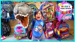 BACK TO SCHOOL SHOPPING with Ryan's Family Review!!