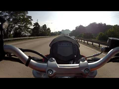 KTM Duke 200 Top speed 148Km/H (Malaysia) - stock standard.