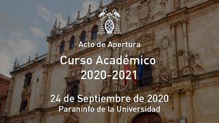 Solemne Acto de Apertura del Curso Académico 2020-21 · 24/09/2020