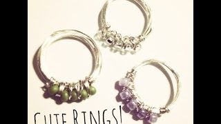 Seed Bead Wire Knuckle Rings DIY December Day 2