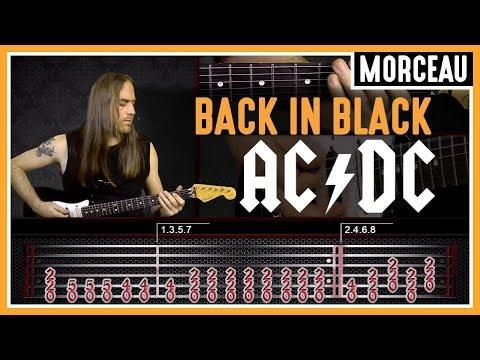 Un cours de guitare rock : apprendre à jouer Back in Black