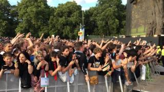Crowd singing Bohemian Rhapsody - Before Green Day concert 01/07/17. Hyde Park, London.