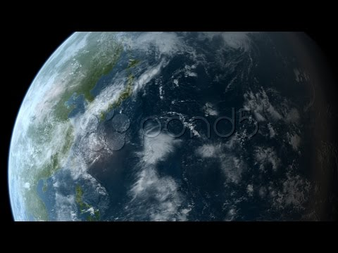 Orbiting Over Asia Hd. Stock Footage