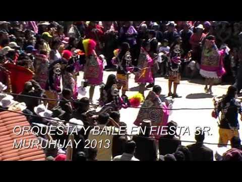 ORQUESTA Y BAILE EN FIESTA DEL SR. DE MURUHUAY TARMA 2013