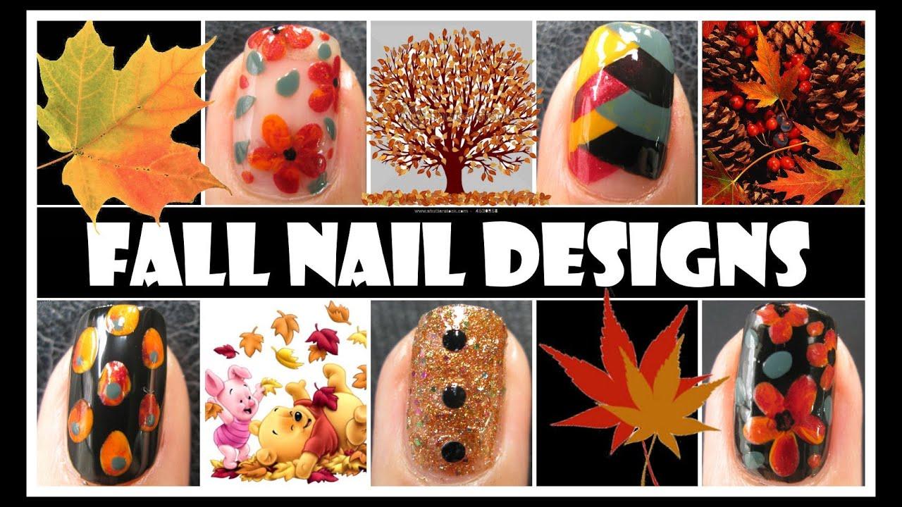 Fall Nail Designs Tutorials Fall Nail Art Tutorials
