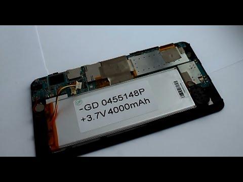 Замена батареи планшета своими руками видео